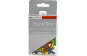 PUSH PINS ASSORTED 100pcs